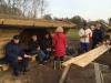 Rejsegilde på de nyopførte shelters