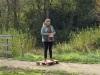 Indvielse af lys i Endrup Naturpark - Susanne Dyreborg holder tale