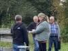 Indvielse af lys i Endrup Naturpark - Susanne Dyreborg klipper snoren