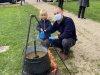 Indvielse af lys i Endrup Naturpark - servering af klar suppe