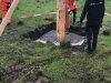 Opsætning af storkerede i Endrup i naturparken dato 18-5-2021